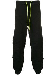 Iceberg Panelled Track Pants Black