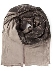 Lost And Found Ria Dunn Printed Scarf Brown