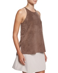 Halston Heritage Jewel Neck Racerback Cami Fatigue