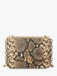 Ralph Lauren Elmswood Madison Leather Shoulder Bag Oatmeal Multi