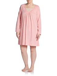 Cottonista Pima Cotton Lace V Neck Nightgown Pink
