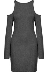 Kain Label Hillary Cutout Stretch Modal Dress Charcoal