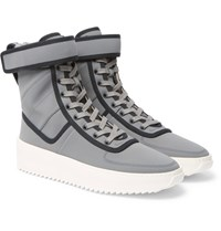 Fear Of God Military Nylon High Top Sneakers Gray