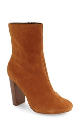 Sole Society Women's Veronica Bootie Chestnut Suede