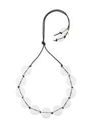 Proenza Schouler Large Glass Beads Choker Nude And Neutrals