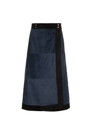 Sea Suede Wrap Skirt