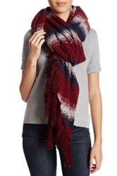 Collection Xiix Ombre Stripe Runway Wrap Red