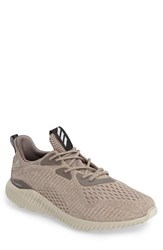 Adidas Men's Alphabounce Em Running Shoe Earth Brown White