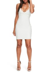 Missguided Women's Studded Body Con Bandage Dress White