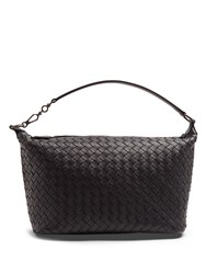 Bottega Veneta Small Intrecciato Leather Shoulder Bag Navy