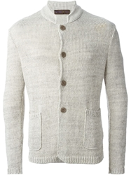 Etro Chunky Knit Cardigan Nude And Neutrals