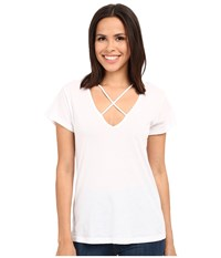 Lna Cross Tee White Women's T Shirt