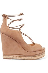Sam Edelman Harriet Suede Espadrille Wedge Sandals Tan