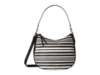 Kate Spade Cobble Hill Straw Mylie Black Cement Handbags