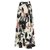 Warehouse Poppy Midi Skirt Black