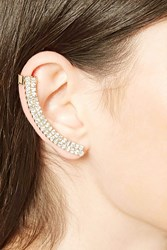Forever 21 Rhinestone Ear Cuff Gold Clear