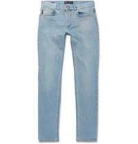Versace Taylor Slim Fit Stretch Denim Jeans Light Blue