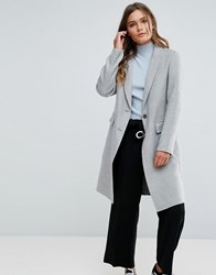 New Look Grey Tailored Coat Mid Grey