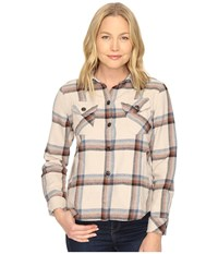 Woolrich Oxbow Bend Shirt Jac Silver Gray Plaid Women's Long Sleeve Button Up Beige