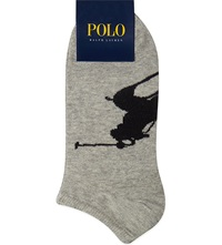 Ralph Lauren Pack Of Three Ankle Socks Black White Grey