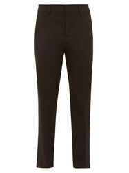 Red Valentino Redvalentino Satin Trimmed Tailored Twill Trousers Black