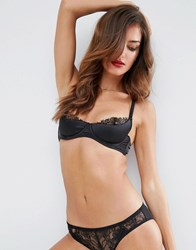 Asos Leah Padded Lace High Apex Underwire Bra Black
