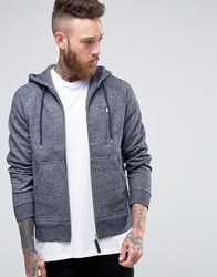 Pretty Green Hoodie With Zip Through In Navy Navy Marl