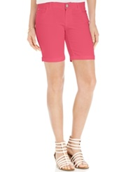 Celebrity Pink Jeans Juniors' Bermuda Shorts Calypso Coral