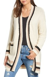 Dreamers By Debut Varsity Stripe Cardigan Ivory