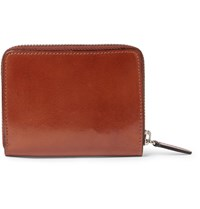 Il Bussetto Polished Leather Zip Around Wallet Brown