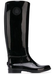Emporio Armani Knee Length Wellies Black
