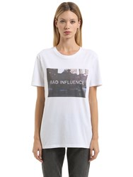 Nasaseasons Bad Influence Cotton Jersey T Shirt