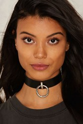 Without A Hitch Vegan Leather Choker Black