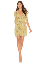 Auguste X Revolve Valentina Crop Sleeve Mini Dress Yellow