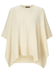 Polo Ralph Lauren Cable Knit Cashmere Poncho Heritage Cream