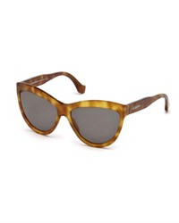 Balenciaga Monochromatic Cat Eye Sunglasses Light Brown Brown Light