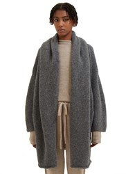 Lauren Manoogian Oversized Knitted Capote Coat Black