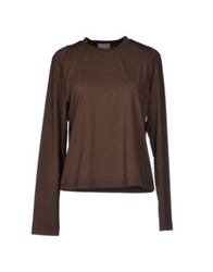 Allegri T Shirts Dark Brown