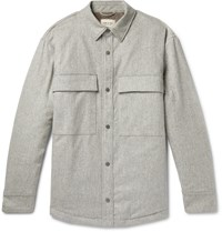 Fear Of God Melton Wool Blend Primaloft Overshirt Gray