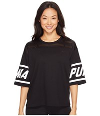 Puma Burnout Tee Cotton Black Women's T Shirt