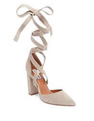 Steve Madden Bryony Suede Dorsay Pumps Taupe
