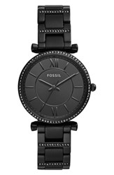 Fossil Carlie T Bar Crystal Bracelet Watch 35Mm Black