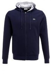 Lacoste Sport Tracksuit Top Navy Blue Silver Chine