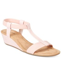 Alfani Women's Voyage Wedge Sandals Created For Macy's Women's Shoes Dusty Rose