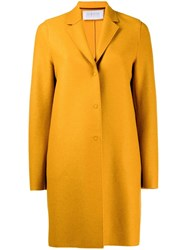 Harris Wharf London Classic Single Breasted Coat Yellow