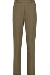 American Vintage Beaumont Twill Straight Leg Pants Green