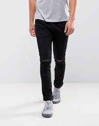 Loyalty And Faith Ryan Skinny Jeans With Knee Rip In Black