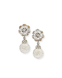 Jose And Maria Barrera Crystal Ball Clip On Earrings