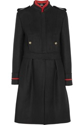 Alberta Ferretti Convertible Wool Blend Coat Black
