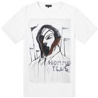 Comme Des Garcons Homme Plus Printed Sports Tee White